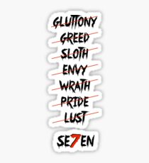 se7en (Crossed) Sticker