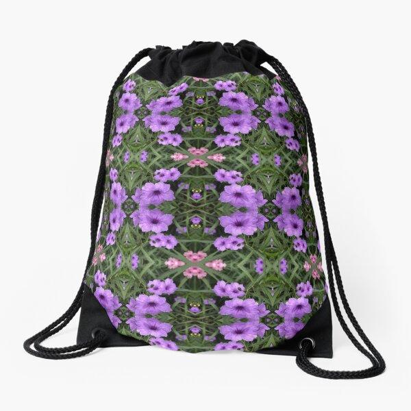 Mexican Petunias Damask Drawstring Bag