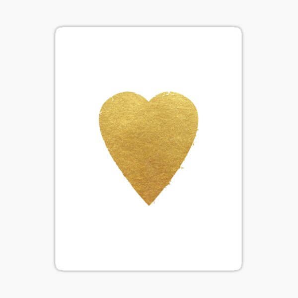 Heart out of Gold Sticker