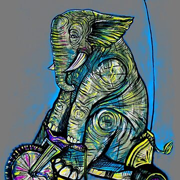 Elephant Big Wheel by brianbarnardart