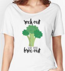 Rock con su Broc fuera - Broccoli Camiseta ancha