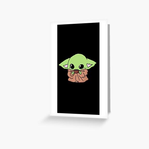 baby yoda Greeting Card