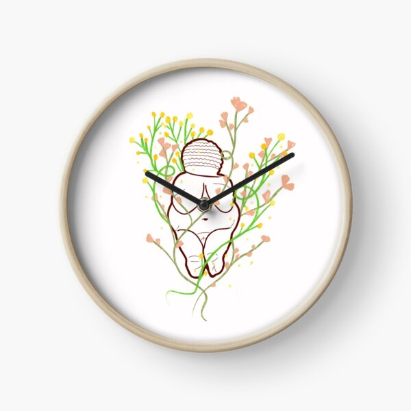 Venus of Willendorf Blooming Archeology Clock