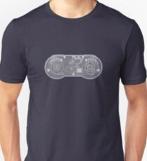 Super Nintendo SNES Controller - X-Ray Unisex T-Shirt