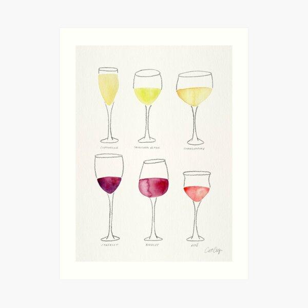 Wine Collection Art Print