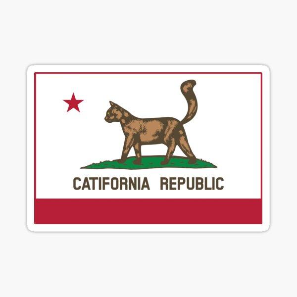 Catifornia Republic State Flag Sticker
