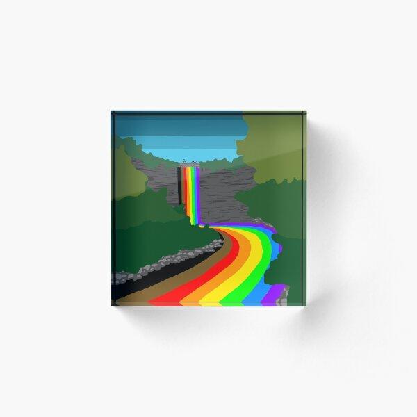 Minnehaha Falls flows with Pride Acrylic Block
