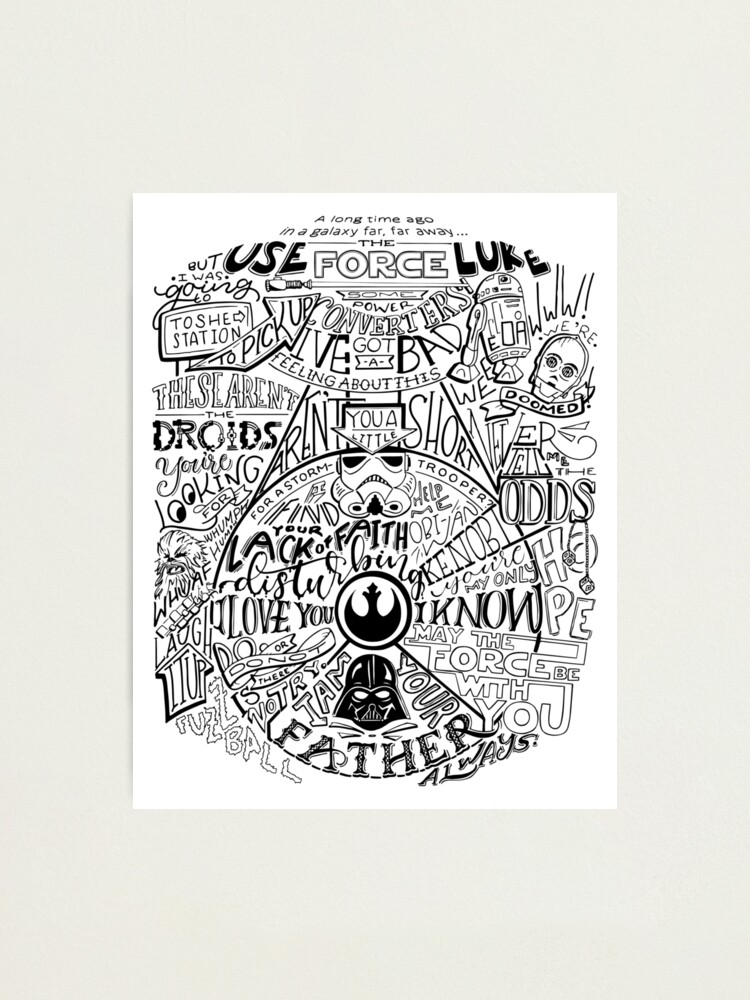Alternate view of Star Wars Original Trilogy Quotes Photographic Print