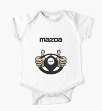 Mazda Eternal Flame Logo Black One Piece - Short Sleeve