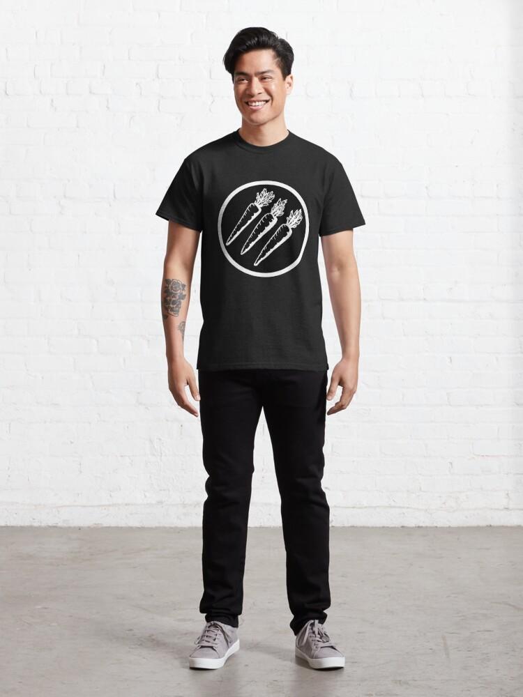 Alternate view of antifascist 3 arrows   radical gardening Classic T-Shirt