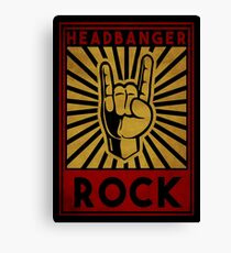 Headbanger  Canvas Print