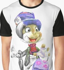 Charcoal and Oil - Jiminy Cricket Graphic T-Shirt