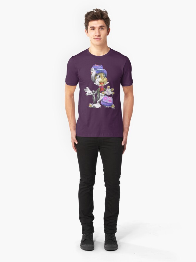 Alternate view of Charcoal and Oil - Jiminy Cricket Slim Fit T-Shirt