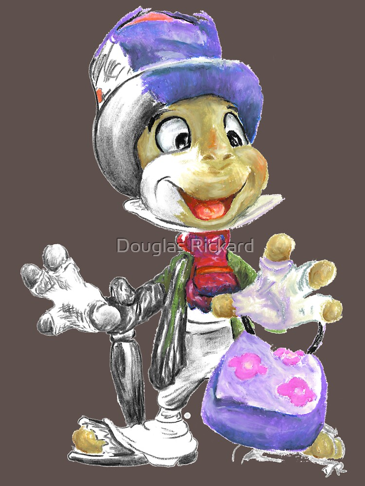 Charcoal and Oil - Jiminy Cricket by douglasrickard