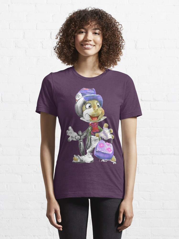 Alternate view of Charcoal and Oil - Jiminy Cricket Essential T-Shirt