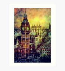 London BigBen Watercolor Art Print