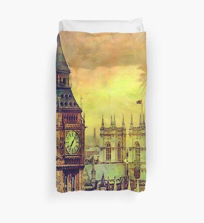 London BigBen Watercolor Duvet Cover