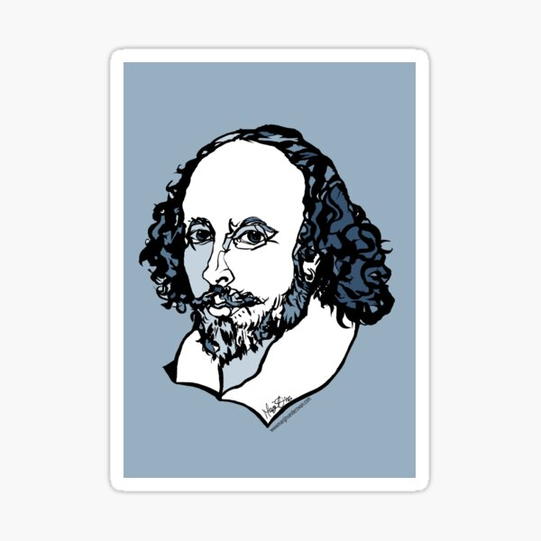 William Shakespeare : The Bard Sticker