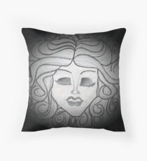 Madame Leota (Haunted Mansion Drawing) Throw Pillow