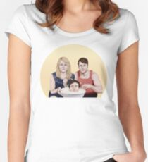 Everyone's up for popcorn Women's Fitted Scoop T-Shirt