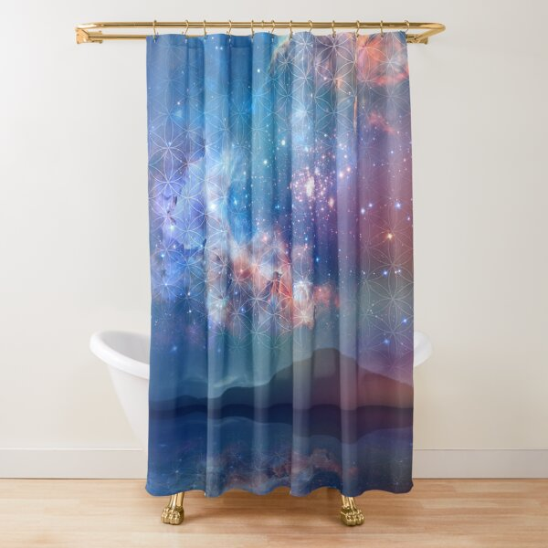 Space Star Landscape Shower Curtain