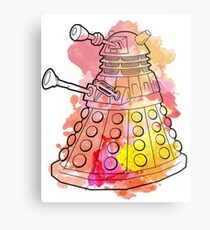 Dalek Watercolour Metal Print