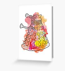 Dalek Watercolour Greeting Card