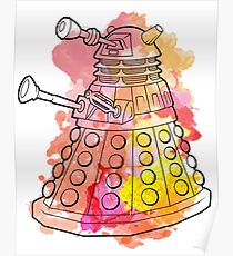 Dalek Watercolour Poster