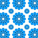 "Retro 1970s Geometric Print ""Flowers 2""  by Fotopia"