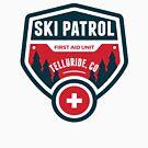 Telluride Colorado Skiing Ski Patrol Mountain Art by MyHandmadeSigns