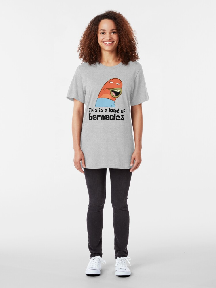 Vista alternativa de Camiseta ajustada Esta es una carga de lapas - Bob Esponja