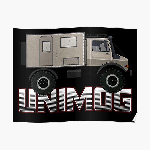 UNIMOG Overlander (auf schwarz) Poster