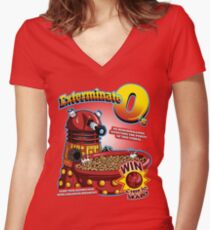 Exterminate O's Women's Fitted V-Neck T-Shirt