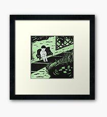Solitude in Green Framed Print
