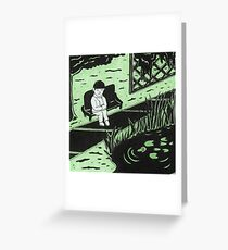 Solitude in Green Greeting Card