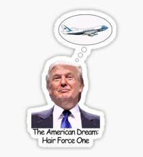Trump Hair Force One Sticker