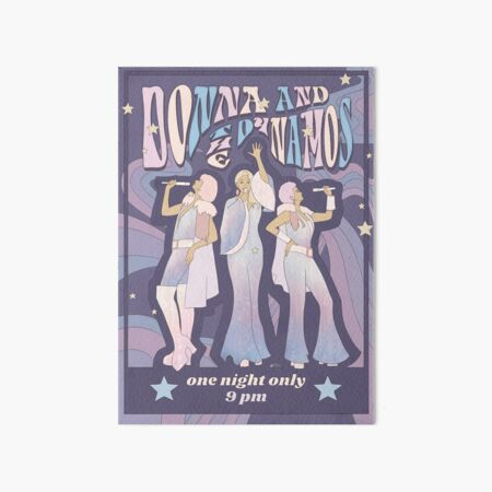 Donna and the Dynamos Concert Poster Art Board Print