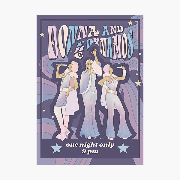 Donna and the Dynamos Concert Poster Photographic Print