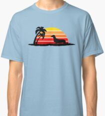 Dachshund on Sunset Beach Classic T-Shirt