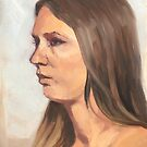 Portrait sketch of Aimee by Roz McQuillan