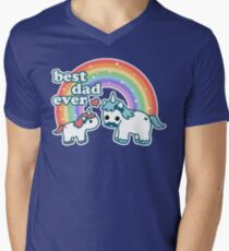 Best Unicorn Dad Men's V-Neck T-Shirt