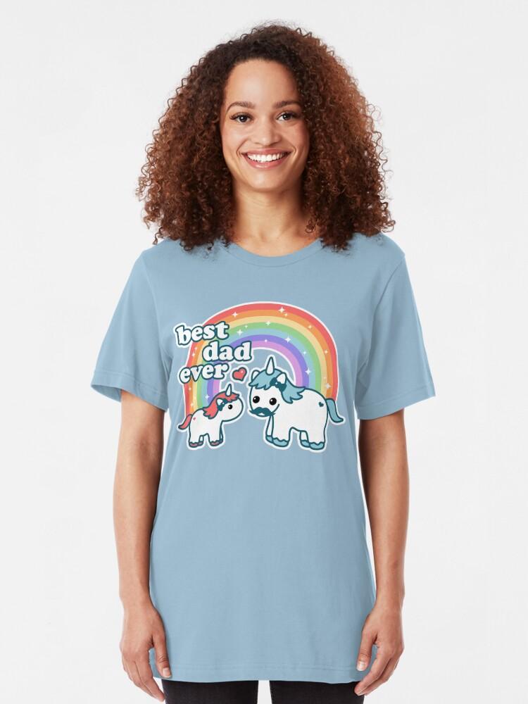 Alternate view of Best Unicorn Dad Slim Fit T-Shirt
