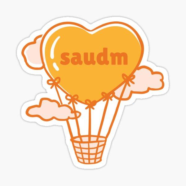 SAUDM Heart Shaped Hot Air Balloon Sticker