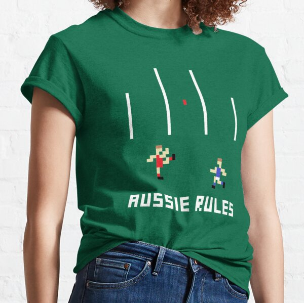 Aussie Rules Pixel Classic T-Shirt