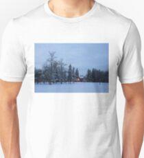 Snow, Stillness and Warm House Lights Unisex T-Shirt