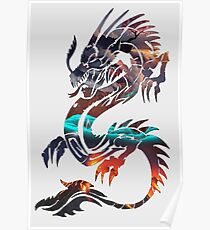 Dragon Picture Fill Poster