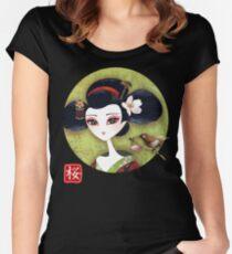 Sakura Girl Reloaded Women's Fitted Scoop T-Shirt