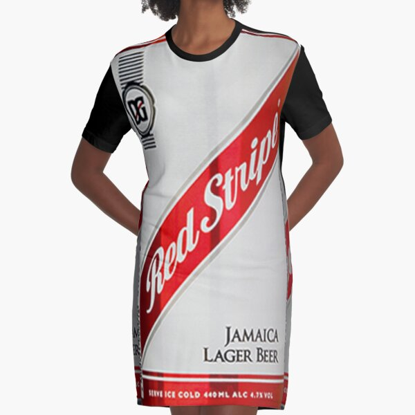 Red Stripe Three Lager Cans Graphic T Shirt Dress By Mimarumble Redbubble