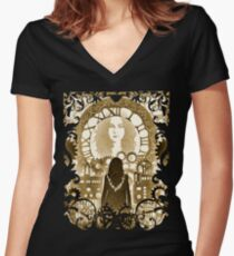 The Future Will Be A Wondrous Place Women's Fitted V-Neck T-Shirt