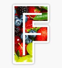 The Letter F - Fruit Sticker
